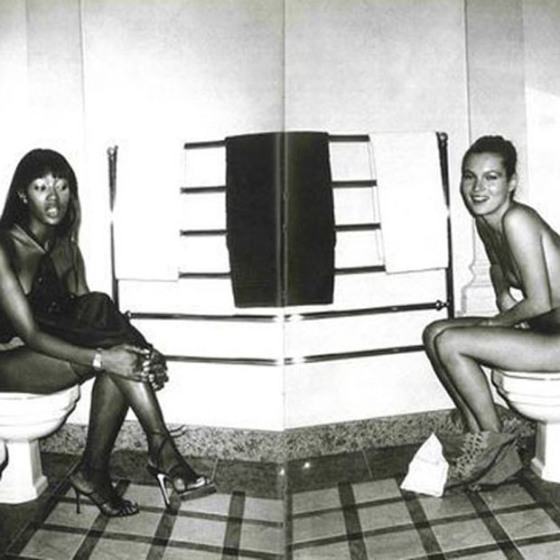 Kate Moss on the toilet, Naomi Campbell on the toilet, Kate Moss Naked, Naomi Campbell Naked, Kate and Naomi