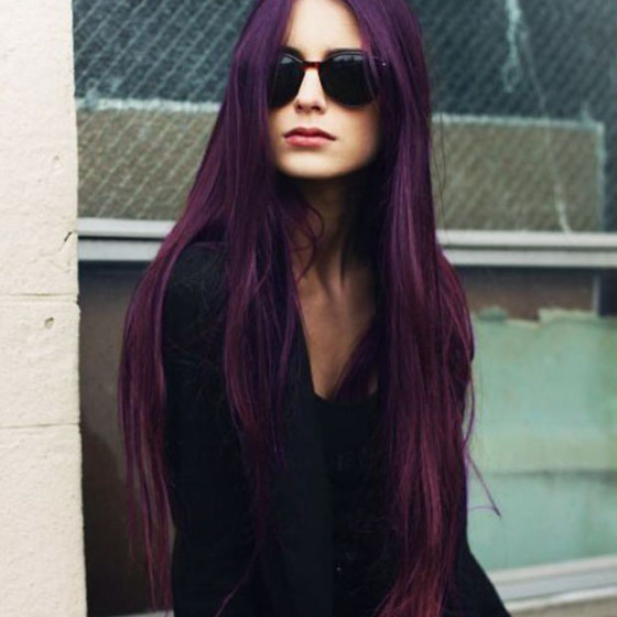 Purple Hair, Purple Hair Dye, Long Purple Hair