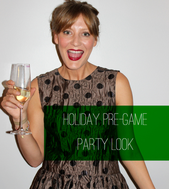 The Pre-game Holiday Party Look, Behind the Mirror, Amanda Teague