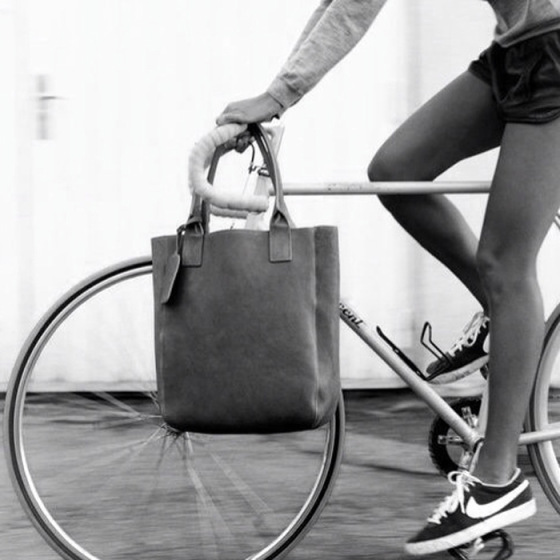 girl on bike, girl on bike with bag on handle bar, behind the mirror, over and done