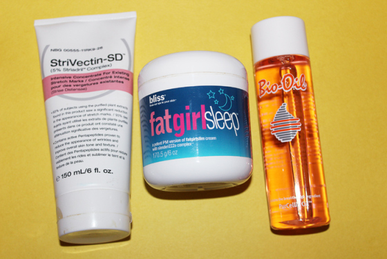 Stretch Marks & Cellulite, Behind the Mirror, Bliss Fat Girl Slim, Bio Oil, Strivectin