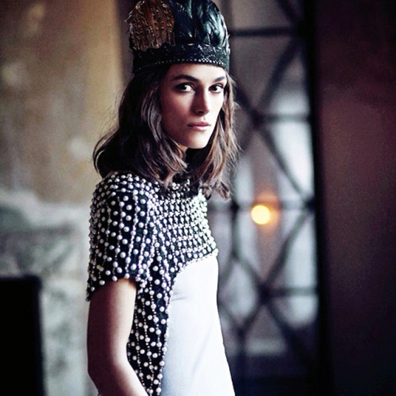Behind the Mirror, Woke Up Like This, Weekend Inspiration,  Kiera Knightly, Kiera Knightly in a feather crown
