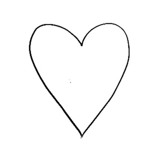 simple heart outline