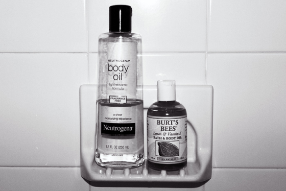 What is Body Oil Really for anyway? Behind the Mirror, Burts Bees Body Oil, Neutragena Body Oil,